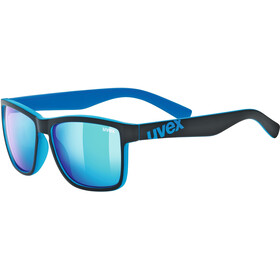 UVEX LGL 39 Glasses, black matt blue/mirror blue